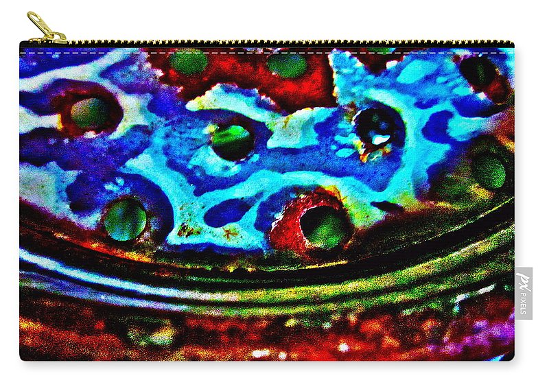 Photograph Of Strainer Carry-all Pouch featuring the photograph Vintage Strainer Four by Gwyn Newcombe