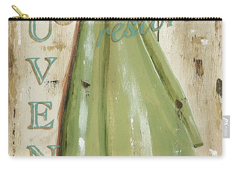 Coastal Carry-all Pouch featuring the painting Vintage Sun Beach 1 by Debbie DeWitt