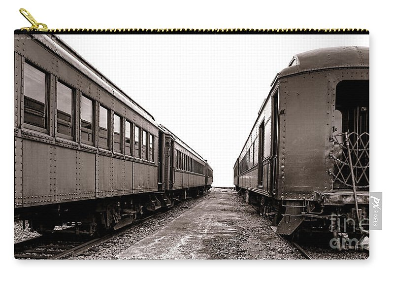 Rail Carry-all Pouch featuring the photograph Vintage Travel by Olivier Le Queinec