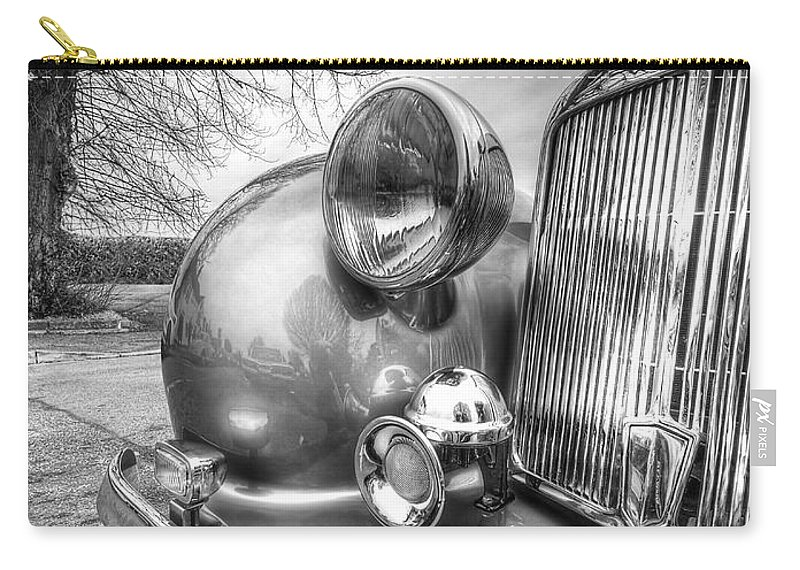 Vintage Car Carry-all Pouch featuring the photograph Vintage Triumph Car by Gill Billington