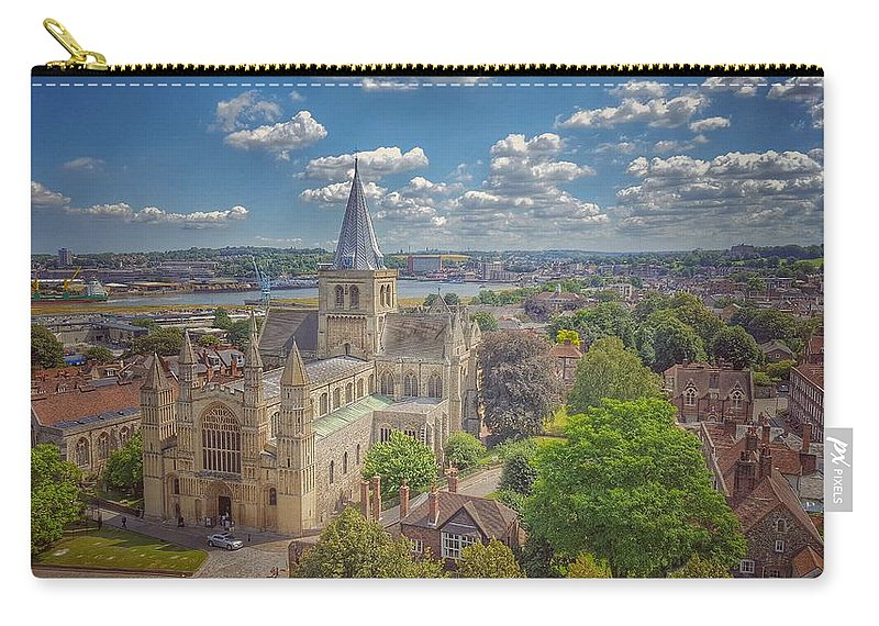 Painting Carry-all Pouch featuring the photograph Vintage View Of The Cathedral by Zahra Majid