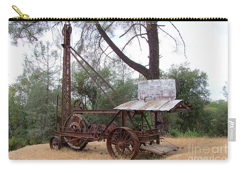 Well Driller Carry-all Pouch featuring the photograph Vintage Well Driller 1 by Mary Deal