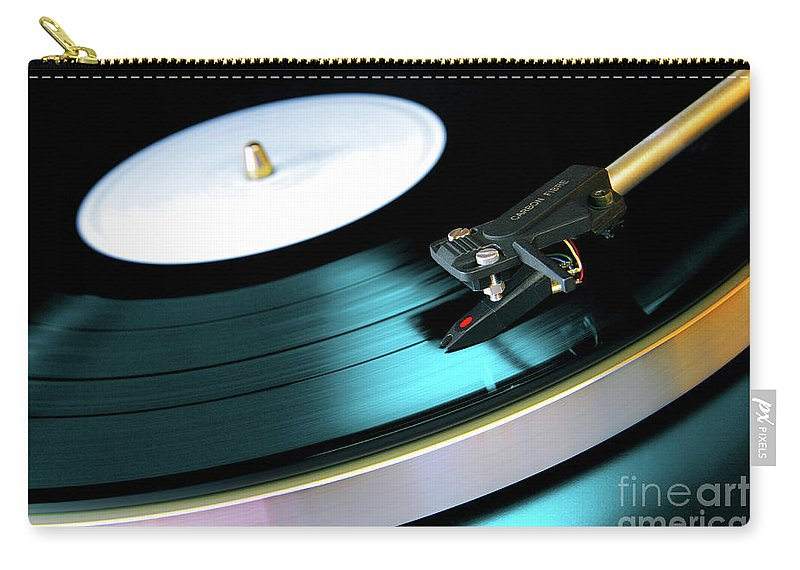 Abstract Carry-all Pouch featuring the photograph Vinyl Record by Carlos Caetano