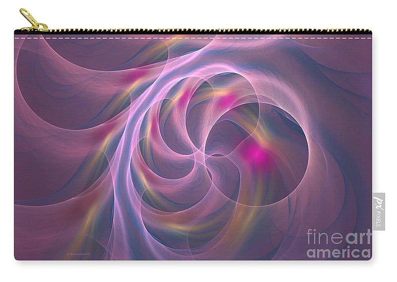 Digitalart Carry-all Pouch featuring the digital art Violet Dreamy Feel by Deborah Benoit