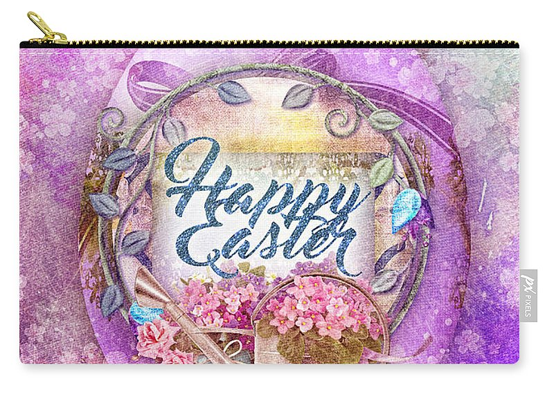 Violet Easter Carry-all Pouch featuring the painting Violet Easter by Mo T