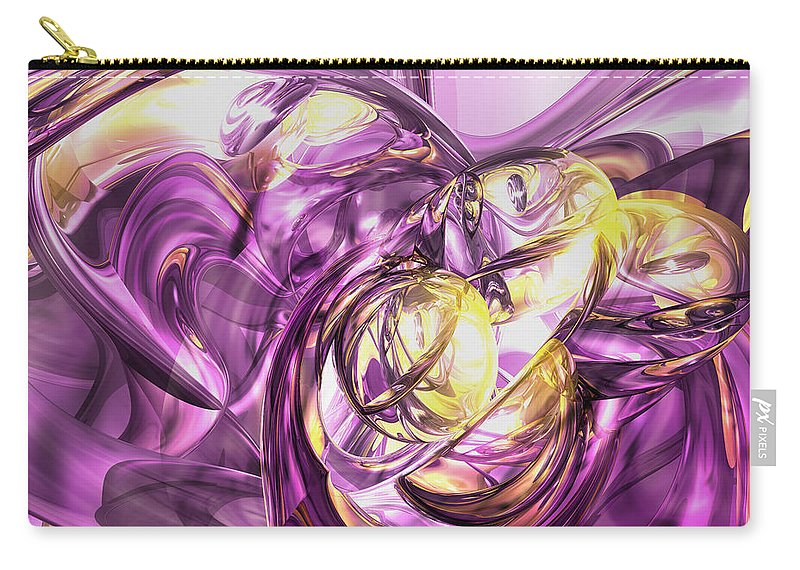 3d Carry-all Pouch featuring the digital art Violet Summer Abstract by Alexander Butler