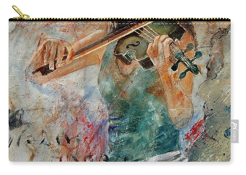 Music Carry-all Pouch featuring the painting Violinist 56 by Pol Ledent