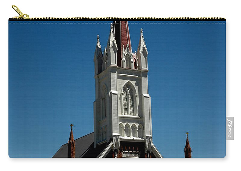 Usa Carry-all Pouch featuring the photograph Virginia City Church St Mary by LeeAnn McLaneGoetz McLaneGoetzStudioLLCcom