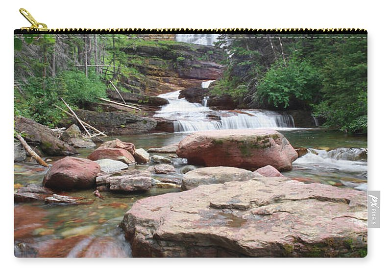Virginia Falls Carry-all Pouch featuring the photograph Virginia Falls - Glacier N.p. by Shari Jardina