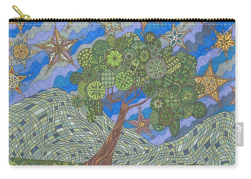 Landscape Carry-all Pouch featuring the drawing Virginia Quilts by Pamela Schiermeyer