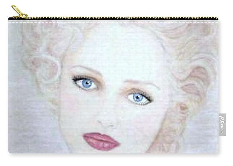 Face Carry-all Pouch featuring the drawing Virginia by Scarlett Royal