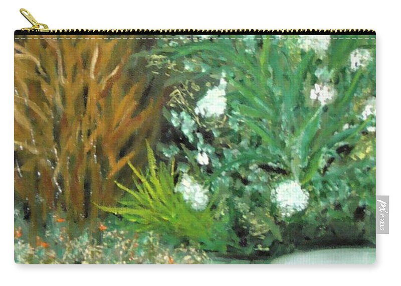 Virginia Carry-all Pouch featuring the painting Virginia's Garden by Laurie Morgan