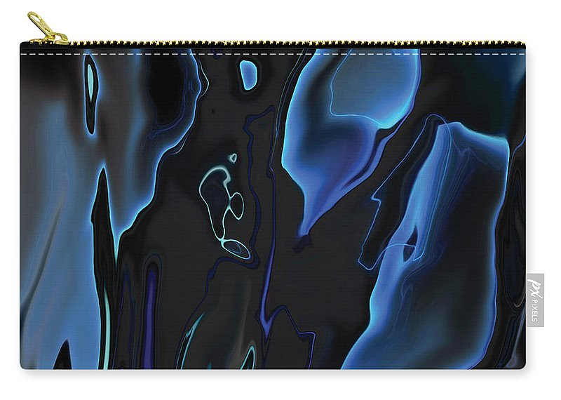 Abstract Carry-all Pouch featuring the digital art Virtual Life 1 by Rabi Khan