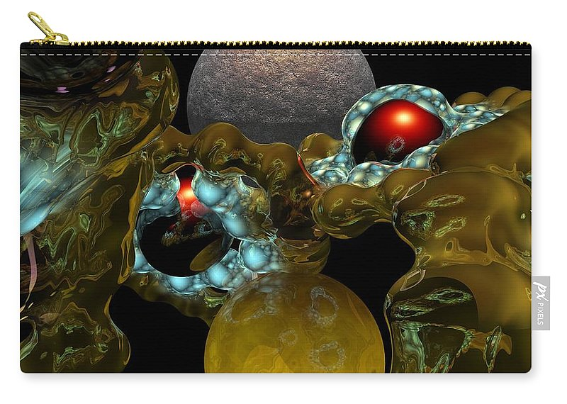 Space Carry-all Pouch featuring the digital art Virus by David Lane
