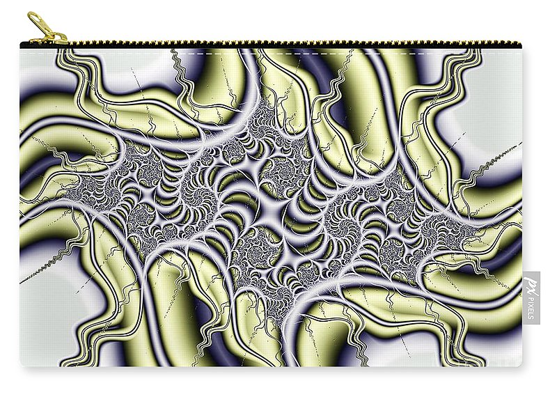 Virus Carry-all Pouch featuring the digital art Virus by Ron Bissett