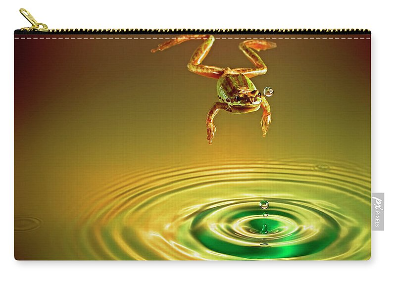 Frog Carry-all Pouch featuring the photograph Vision by William Freebilly photography