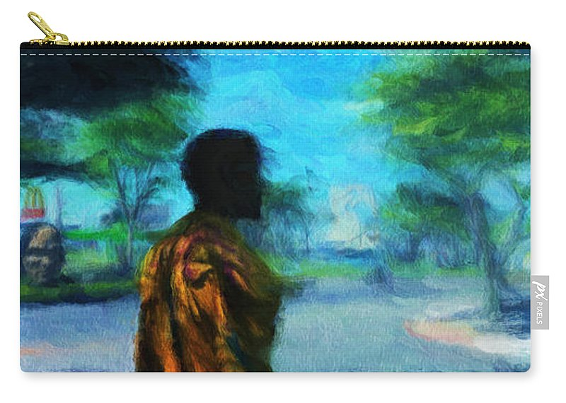 Scape Carry-all Pouch featuring the digital art Visionary Roundabout Scene by Caito Junqueira