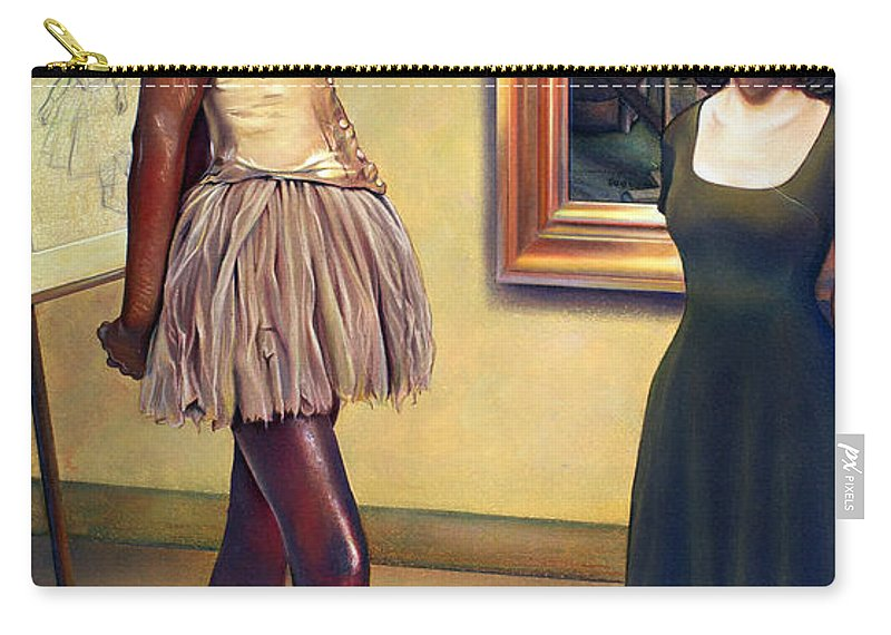 Edgar Degas Carry-all Pouch featuring the pastel Visit To The Museum by Patrick Anthony Pierson