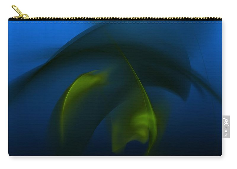 Digital Painting Carry-all Pouch featuring the digital art Visitors From The Deep by David Lane