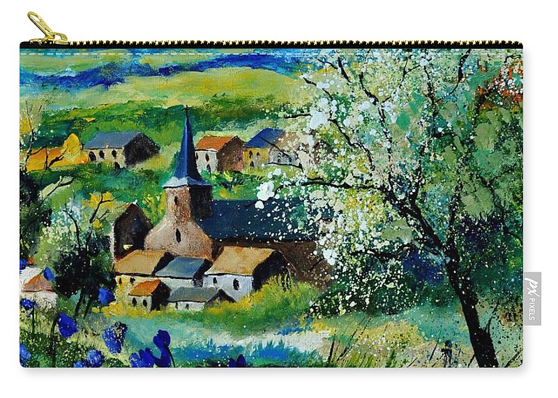 Landscape Carry-all Pouch featuring the painting Vitrival by Pol Ledent
