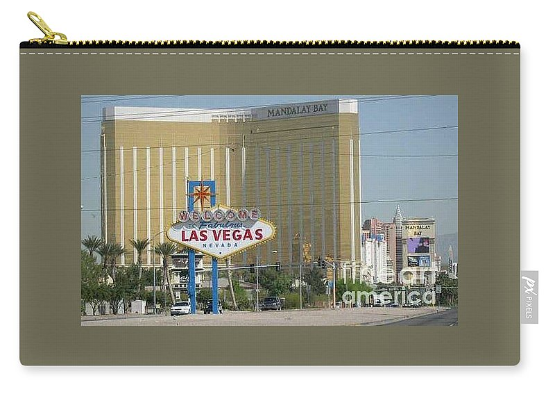 Vegas Carry-all Pouch featuring the photograph Viva Las Vegas by Barb Montanye Meseroll