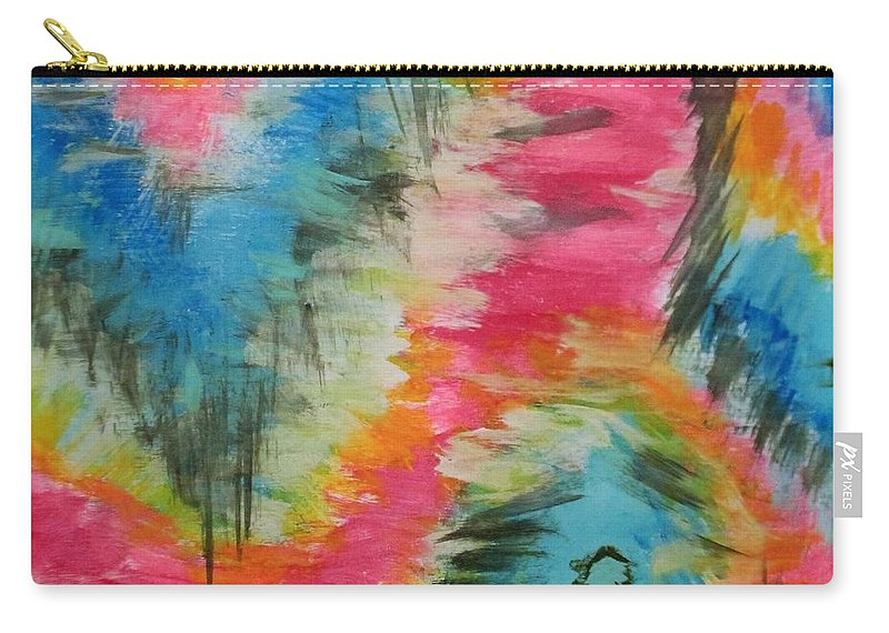 Colorful Carry-all Pouch featuring the painting Vivid by Melisa Farthing