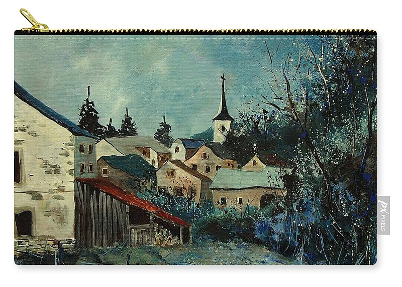Village Carry-all Pouch featuring the painting Vivy Bouillon by Pol Ledent