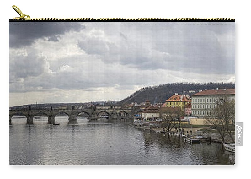 Prague Carry-all Pouch featuring the photograph Vltava River Scene by Heather Applegate