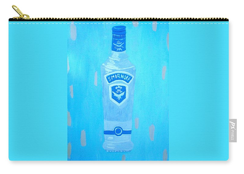 Pop Art Carry-all Pouch featuring the painting Vodka by Patrice Tullai