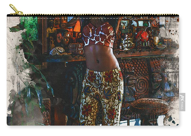 Home Art Carry-all Pouch featuring the digital art Vodoo Child by Don Kuing
