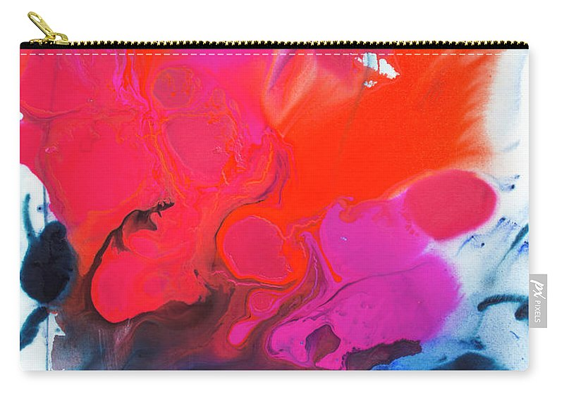 Abstract Carry-all Pouch featuring the painting Voice by Claire Desjardins