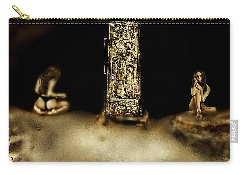 Maiden Carry-all Pouch featuring the digital art Void Maidens Of Amenta by Timothy Chastain