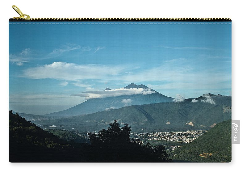 Volc�n De Agua Carry-all Pouch featuring the photograph Volcan De Agua Antiqua Gutemala 3 by Douglas Barnett