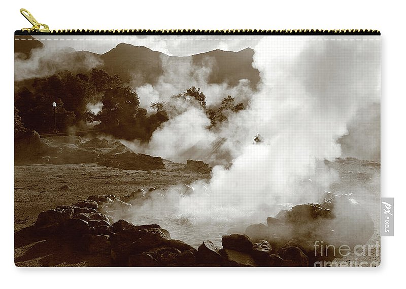 Azores Carry-all Pouch featuring the photograph Volcanic Steam by Gaspar Avila