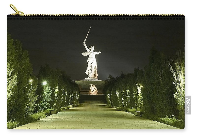 Architecture Carry-all Pouch featuring the photograph Volgograd1 by Svetlana Sewell