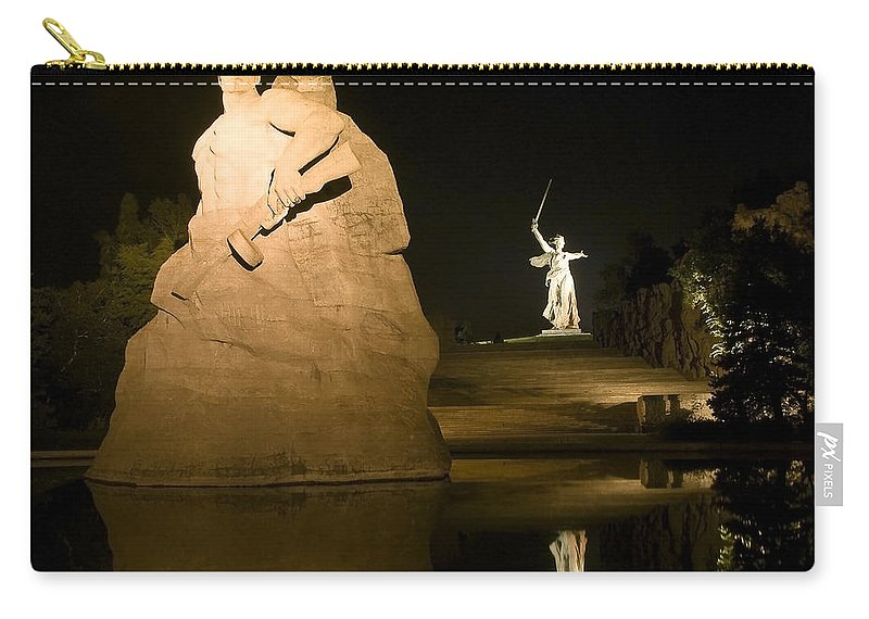 Architecture Carry-all Pouch featuring the photograph Volgograd2 by Svetlana Sewell