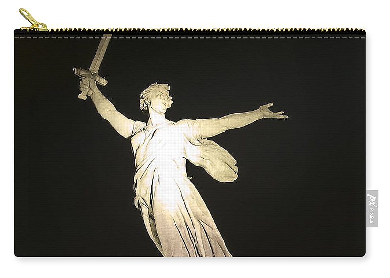 Architecture Carry-all Pouch featuring the photograph Volgograd5 by Svetlana Sewell