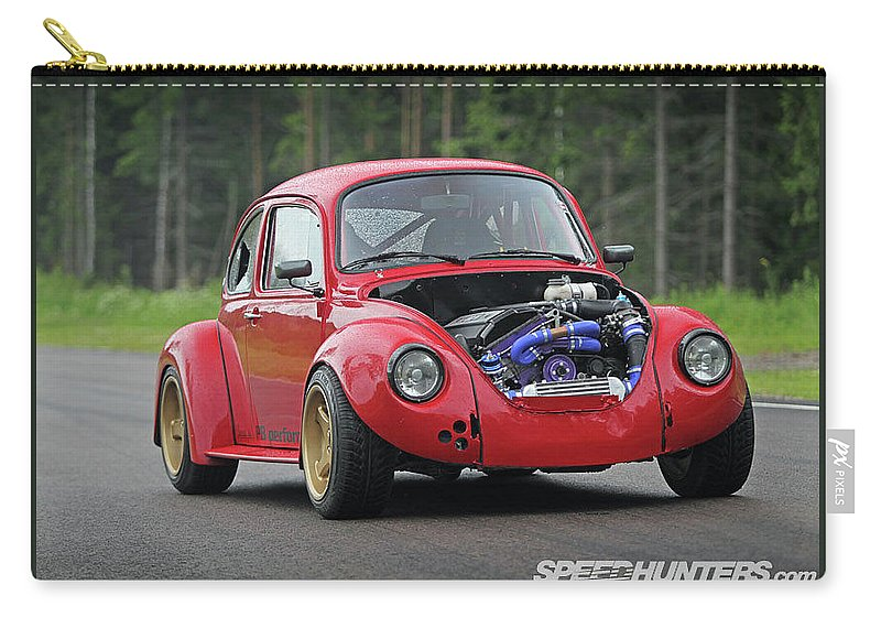 Volkswagen Beetle Carry-all Pouch featuring the photograph Volkswagen Beetle by Jackie Russo