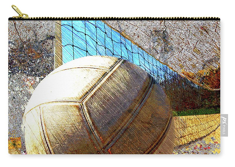 Volleyball Carry-all Pouch featuring the digital art Volleyball Art Version 5 by Takumi Park