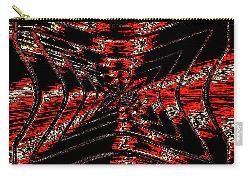 Abstract Carry-all Pouch featuring the digital art Voltage by Will Borden