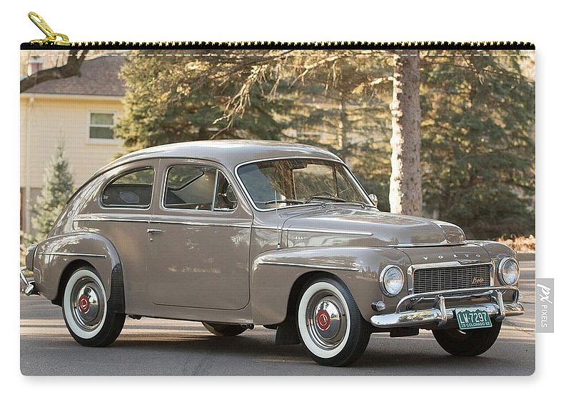 Volvo 544 Sport Carry-all Pouch featuring the photograph Volvo 544 Sport by Mariel Mcmeeking