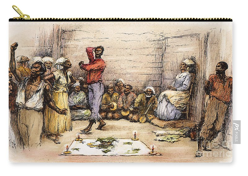1885 Carry-all Pouch featuring the photograph Voodoo Dance, 1885 by Granger