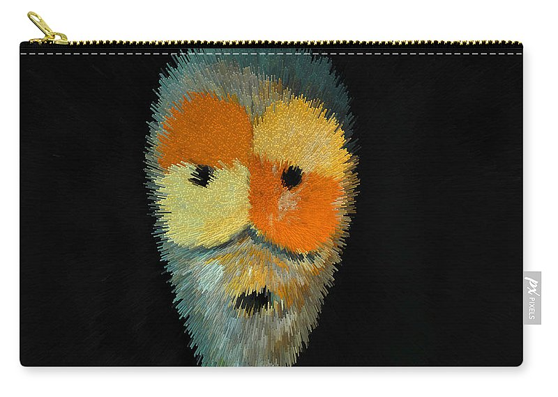 Voodoo Carry-all Pouch featuring the painting Voodoo Mask by David Lee Thompson