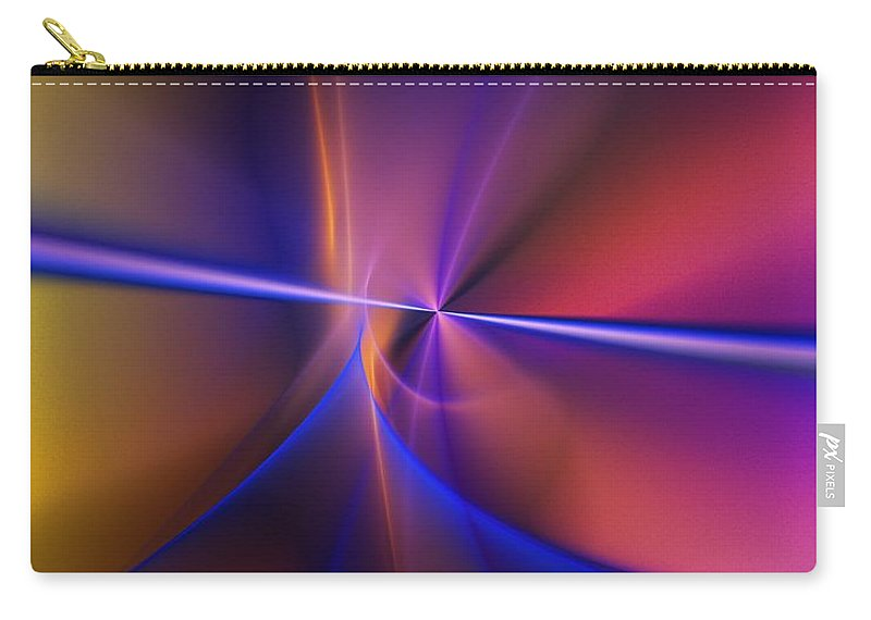 Fine Art Carry-all Pouch featuring the digital art Vortex 032311 by David Lane