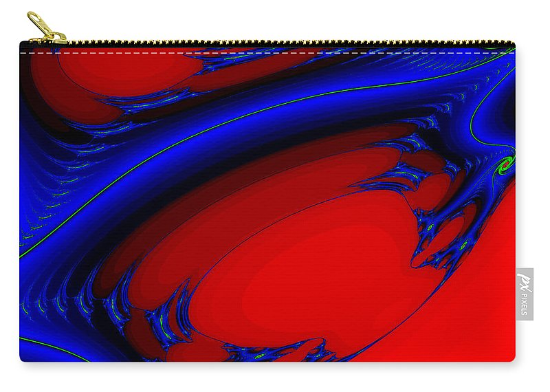 Clay Carry-all Pouch featuring the digital art Vortex Extreme Fractal by Clayton Bruster