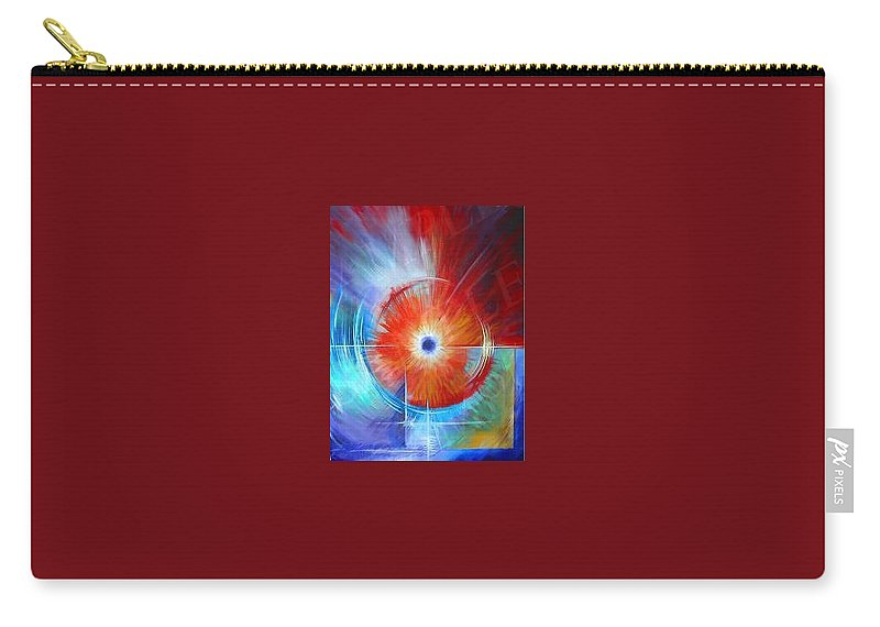 Clouds Carry-all Pouch featuring the painting Vortex by James Christopher Hill