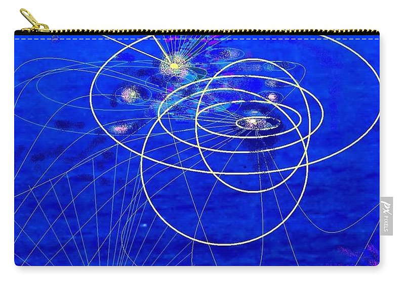 Abstract Carry-all Pouch featuring the digital art Voyage by Ian MacDonald