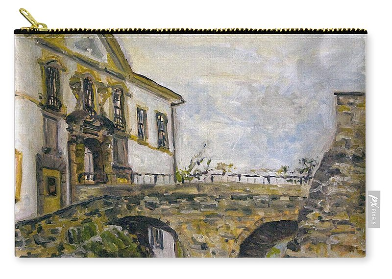 Landscape Carry-all Pouch featuring the painting Vstup Na Zamek by Pablo de Choros
