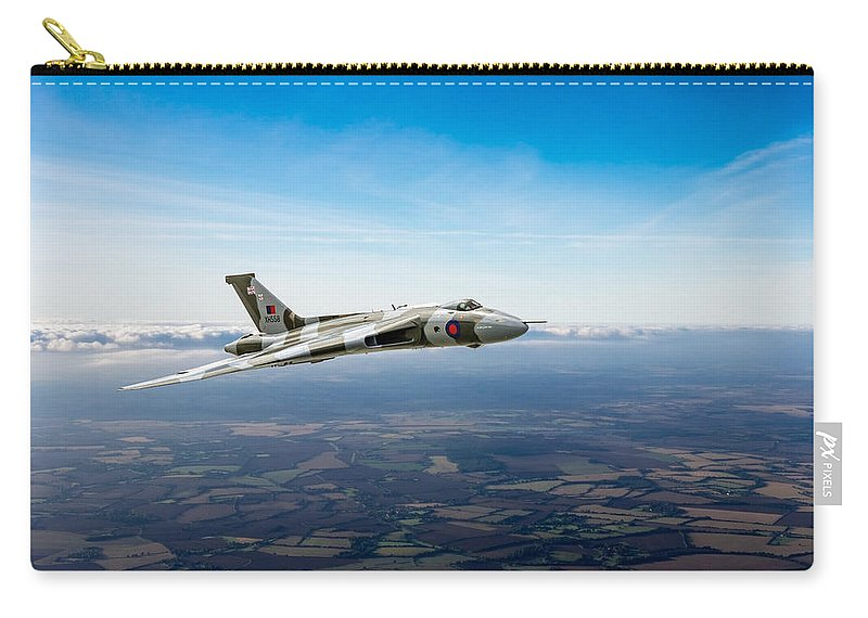 Avro Vulcan Carry-all Pouch featuring the photograph Vulcan In Flight 2 by Gary Eason