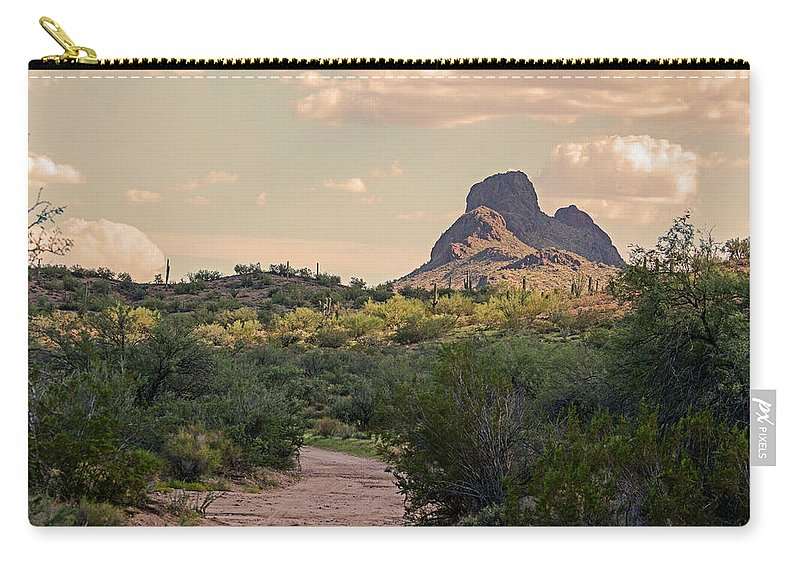 Vulture Peak Carry-all Pouch featuring the photograph Vulture Peak At Sundown by Elizabeth Hershkowitz